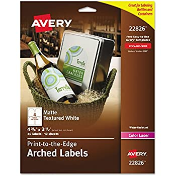Amazon Avery Print To The Edge Arched Labels Matte