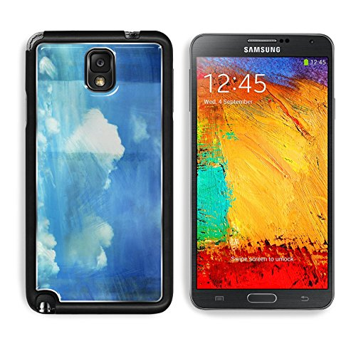 Samsung Galaxy Note 3 Aluminum Case cloud painting on old grunge canvasretro background IMAGE 12082406 by MSD Customized Premium Deluxe Pu Leather generation Accessories HD Wifi Luxury Protector (Colors Textures Collection Parchment)