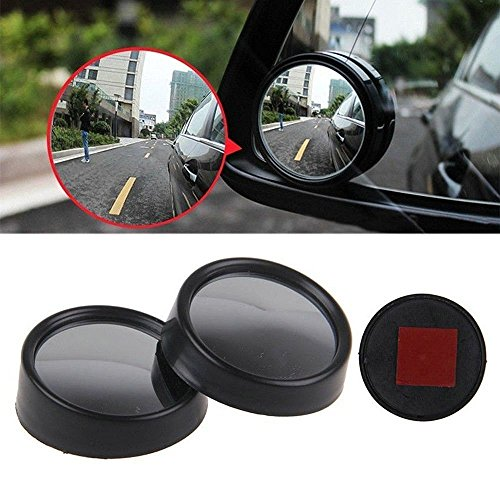 Excoup Car Stick On Adjustable Blind Spot Mirrors Wide