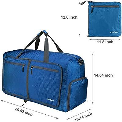 Travel Duffel Bag Water Resistant Duffle Bag Lightweight Travel Bag with Big Capacity Modase 80L Large Foldable Travel Duffle Bag with Shoulder Straps for Women /& Men
