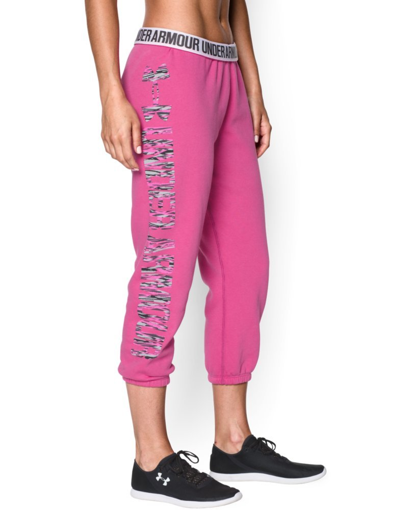 Under Armour Women's UA Fleece Capri, Rebel Pink/Luna Peach, LG (US 12-14) X 22 by Under Armour (Image #1)