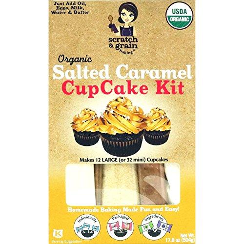 - Scratch & Grain Organic Salted Caramel CupCake & Cake Kit
