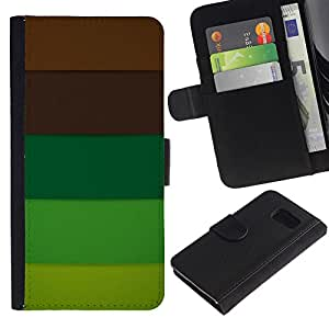 All Phone Most Case / Oferta Especial Cáscara Funda de cuero Monedero Cubierta de proteccion Caso / Wallet Case for Sony Xperia Z3 Compact // Brown Pastel Palette Tones