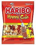 Haribo Gummi Candy, Happy Cola, 5 oz. Bag (Pack of 12)