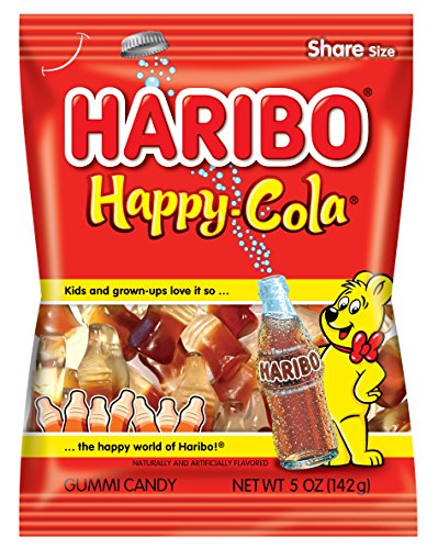 Haribo Gummi Candy, Happy Cola, 5 oz. Bag (Pack of 12)
