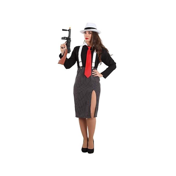 Disfraces FCR - Disfraz gánster mujer talla 42: Amazon.es: Ropa y ...