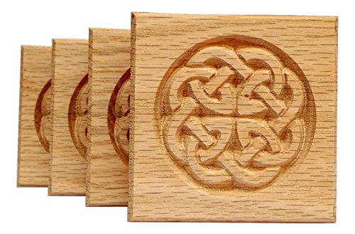 (Set of 4: Carved Celtic