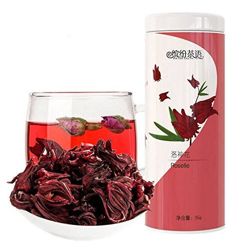 HEKUNDA Roselle Tea Dried Herbal Tea 100% Natural and Organic  35g Chinese Flower Tea for Beauty and Slimming