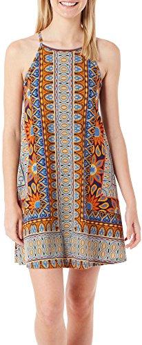 Angie-Juniors-Aztec-Print-High-Neck-Dress
