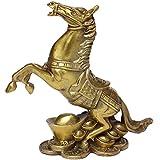 Brass Rich Horse Statues Handmade Golden Wealth Horse Figurine Home Decor Gift BS031