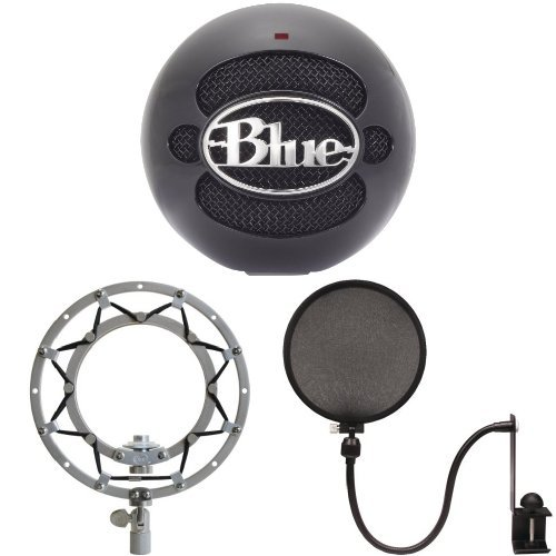 Price comparison product image Blue Microphones Snowball (Gloss Black) - Shockmount and Pop Filter Bundle