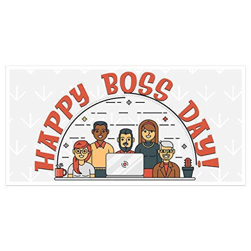 Team Happy Boss Banner Party Backdrop (Team Drop)