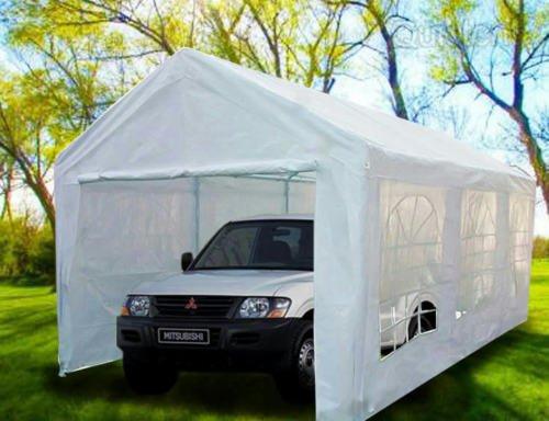Heavyduty White Tarp Poly Tarpaulin Canopy Tent Shelter Car Multi Purpose by BONNILY (Image #7)
