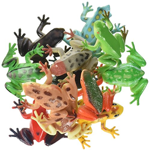 12 Poison Dart Frogs 1 5 Inch Plastic New Import It All