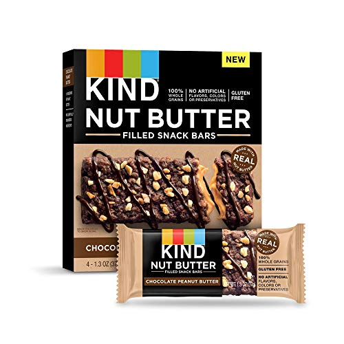 KIND Nut Filled Bars, Chocolate Peanut Butter, 32 Count (Best Protein Filled Snacks)