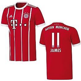 Maillot Bayern adidas - Pour hommes - Inscription: « James 11 »