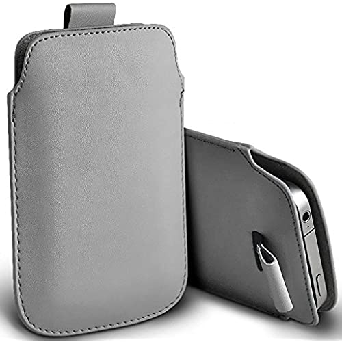 ONX3 (Grey) Samsung Galaxy S8 Case Slip In Pull Tab Faux Leather Pouch Case Cover Sales