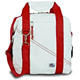 SailorBags Soft Cooler Bag, (Holds 12 Cans) (White/Red Straps) For Sale