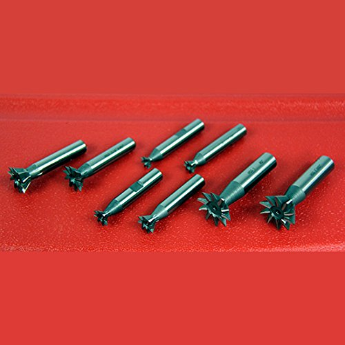 (8 Pc 45 & 60 Degree Dovetail Cutter Set 3/8, 1/2, 3/4, 1