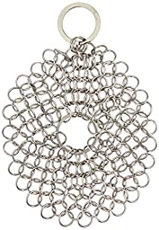 Skillet Skrunchie Cast Iron Chainmail Cleaner, 7x7 Inch Round