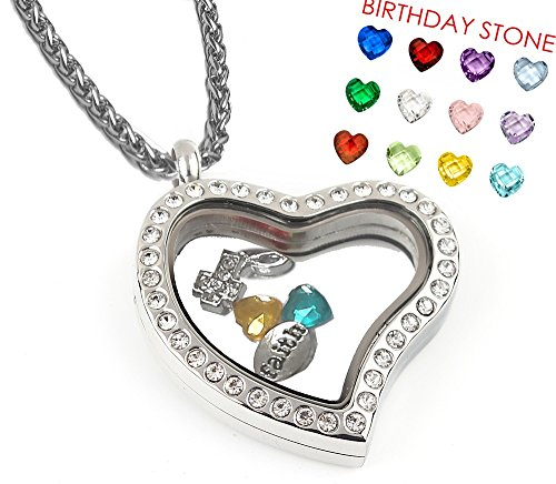 Set Heart Shape Locket Necklace