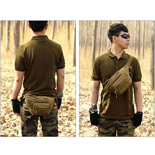 Einheitsgröße hombre hombro Armeegrün oscuro de nailon Bolso marrón para al Marrón Lunji xqYvA6wWx