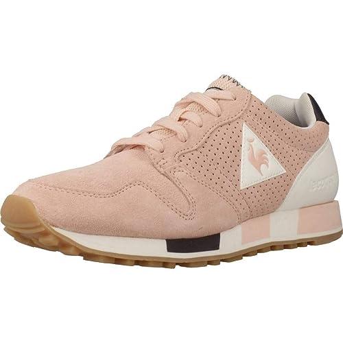 Zapatillas Le COQ Sportif - Omega Premium Rosa/Blanco/Carbón: Amazon.es: Zapatos y complementos