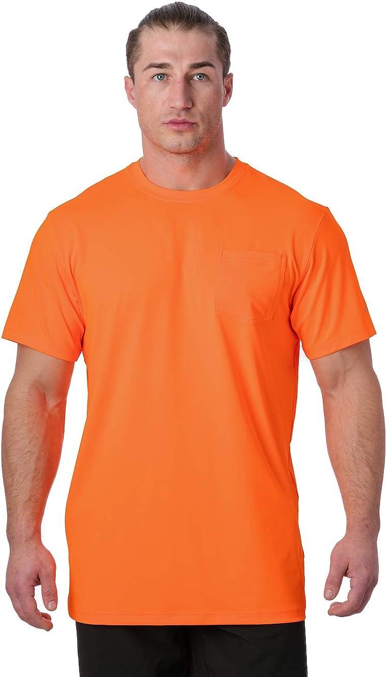 Arctic Cool Men's Crew Neck Instant Cooling Pocket Workwear Moisture Wicking Performance UPF 50+ Short Sleeve Shirt