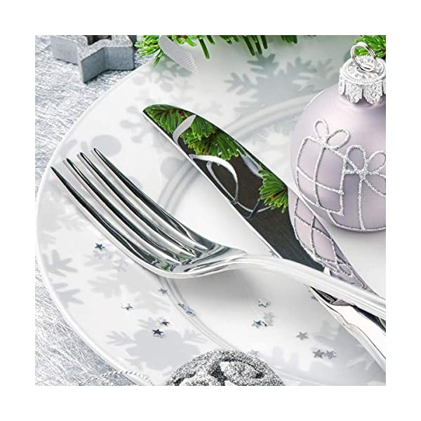 Teivio 24-Piece Silverware Set, Flatware Set Mirror Polished, Dishwasher Safe Service for 4, Include Knife/Fork/Spoon… 4