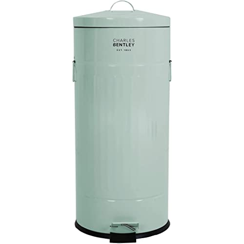 BENTLEY HOME 30L RETRO OLIVE GREEN KITCHEN BIN
