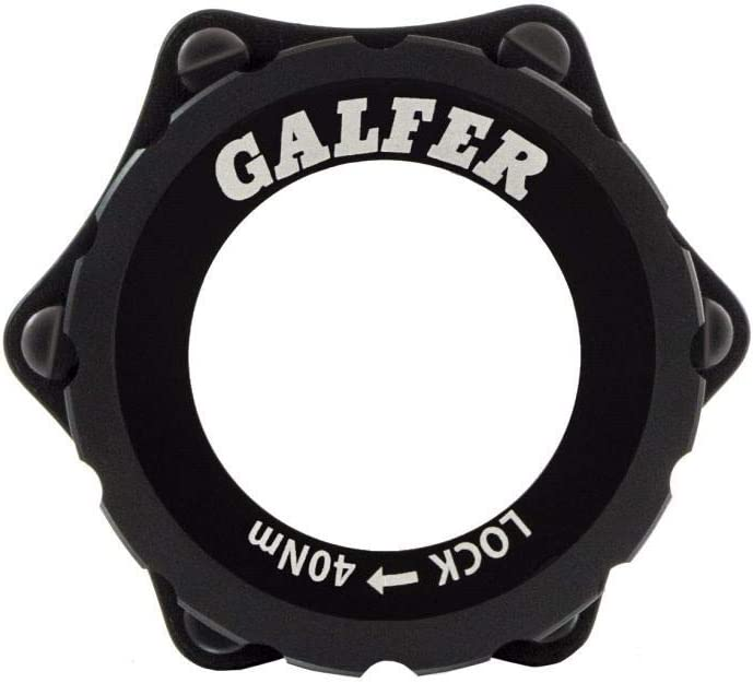 Negro Adultos Unisex ESTANDAR Galfer Center Lock Adapter Bike Universal HUB
