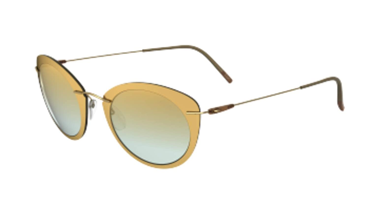 Sunglasses Silhouette Infinity Collection 8161 5540 Brass-Mint Mirror Gradient 4