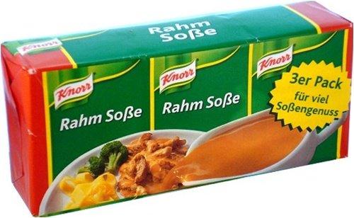 KNORR Rahm Sosse [Mezcla la salsa de carne asada Crema] (paquete de 3