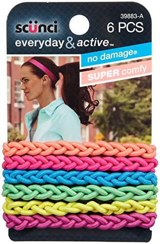 Price comparison product image Scunci Everyday and Active Strand Elastics - Assorted Colors