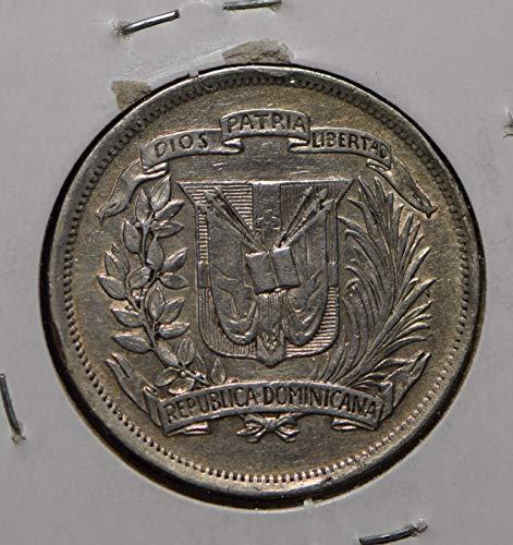 1937 DO Dominican Republic 1937 1/2 Peso 290204 vintage animal DE PO-01