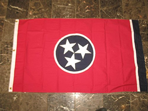 3×5 Tennessee TN State Embroidered Sewn 100% Cotton Flag 3'x5′ Banner with Grommets For Sale