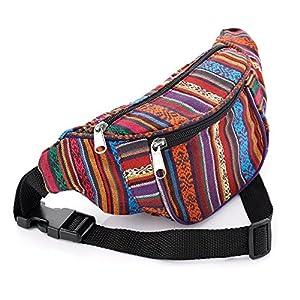 Multi Colour Tribal Print Coloured Bum Bag | DeHippies.com