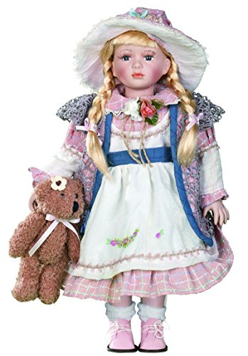 "Golden Keepsakes Collectible Heirloom American Country Girl 18"" Porcelain Doll Kylie"