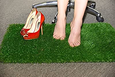 Anti-Fatigue Rug & Comfort Mat - For Home Or Office Standing Desk – Relaxes and Soothes Feet (Green)
