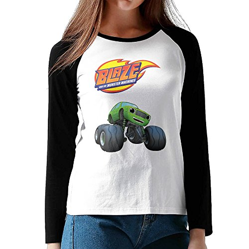 Blaze And The Monster Machines TV Show 3/4-Sleeve Raglan Long Sleeve