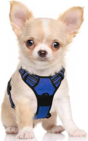 Adjustable Dog Harness No Pull Pet Vest Reflective Oxford for Large Dogs Small