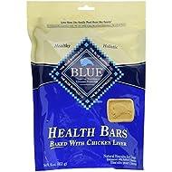 Blue Buffalo Health Bars Natural Crunchy Dog Treats Biscuits, Chicken Liver 16-oz bag