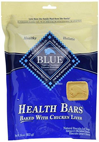 BLUE Health Bars Adult Chicken Liver Biscuits Dog Treats 16-oz