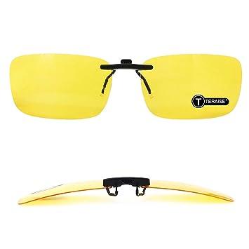 TERAISE Clip De Visión Nocturna Polarizada En Gafas De Sol para Anteojos con Receta/Miopía Seguridad En La Conducción