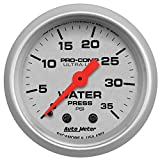 "Auto Meter 4307 2"" 0-35 PSI Mechanical Water Pressure Gauge"