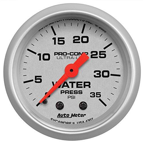 Auto Meter 4307 Ultra-Lite Mechanical Water Pressure Gauge