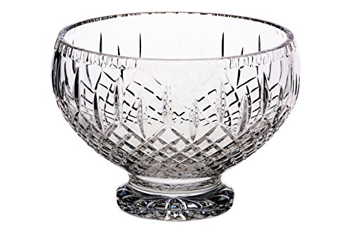 Barski European Quality - Mouth Blown - hand Cut Crystal - Footed - Serving Bowl - 8