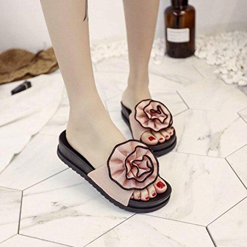 Mujer Vestir hunpta Para Sandalias Rosa de PwIIq6xCU