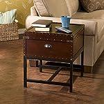 Southern Enterprises Voyager Espresso Trunk End Table 7