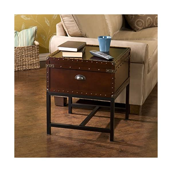 Southern Enterprises Voyager Espresso Trunk End Table 4